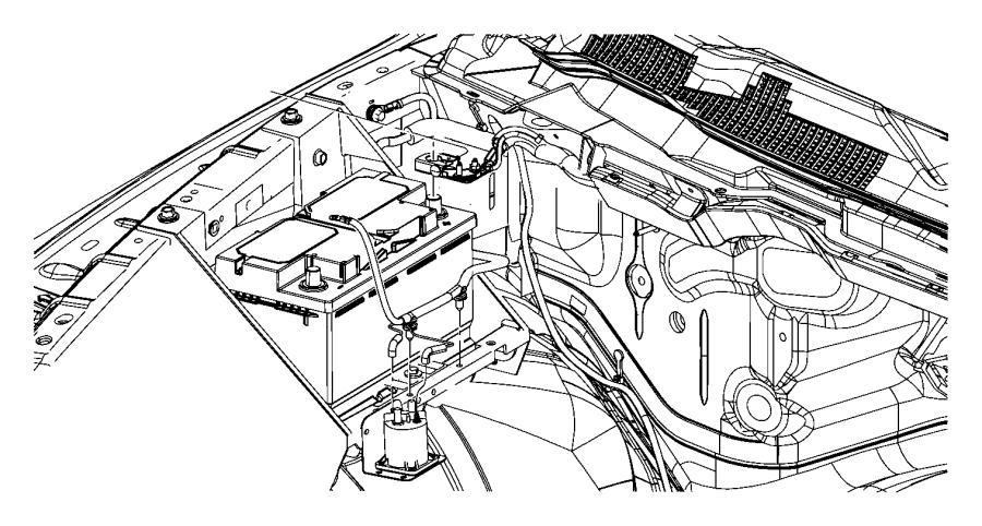 Dodge Ram 3500 Wiring. Battery positive. Amp, alternator