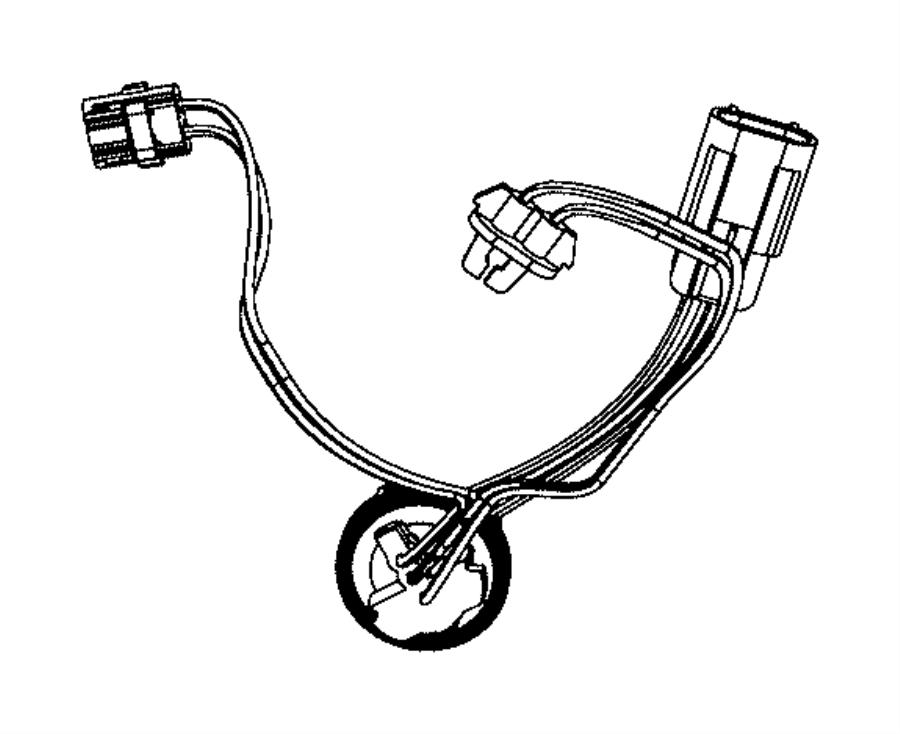 Dodge Ram 2500 Wiring. Jumper. Headlamp. Left, right