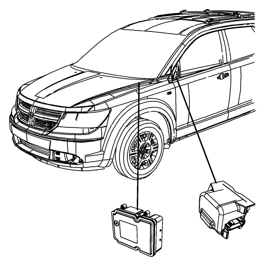 2010 Dodge Journey Module. Anti-lock brake system. Lhd