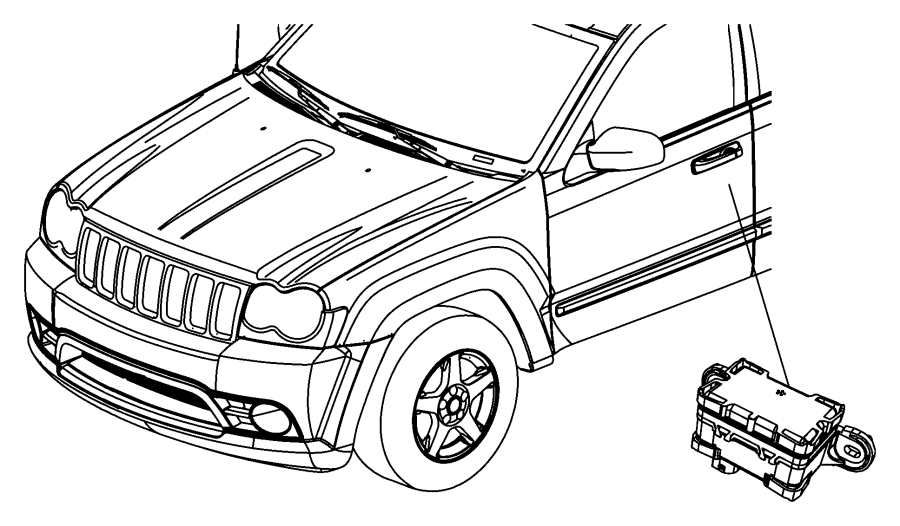 Chrysler Town & Country Module, sensor. Dynamics