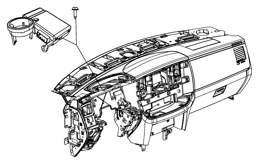 2008 Chrysler Aspen Receiver. Control module. System