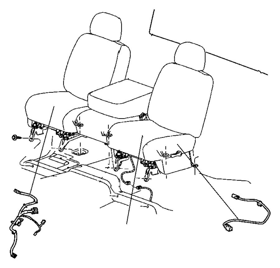 Chrysler 300 Wiring. Seat. Trim: [cloth split bench seat
