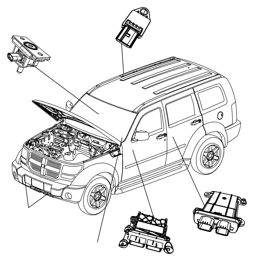 2007 Dodge NITRO Module. Occupant classification. [a7