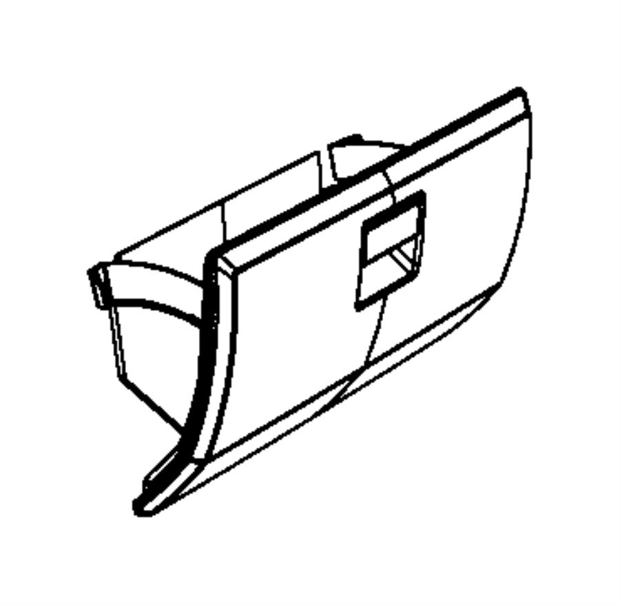 2011 Dodge NITRO Glove box. Instrument panel. Trim: [all