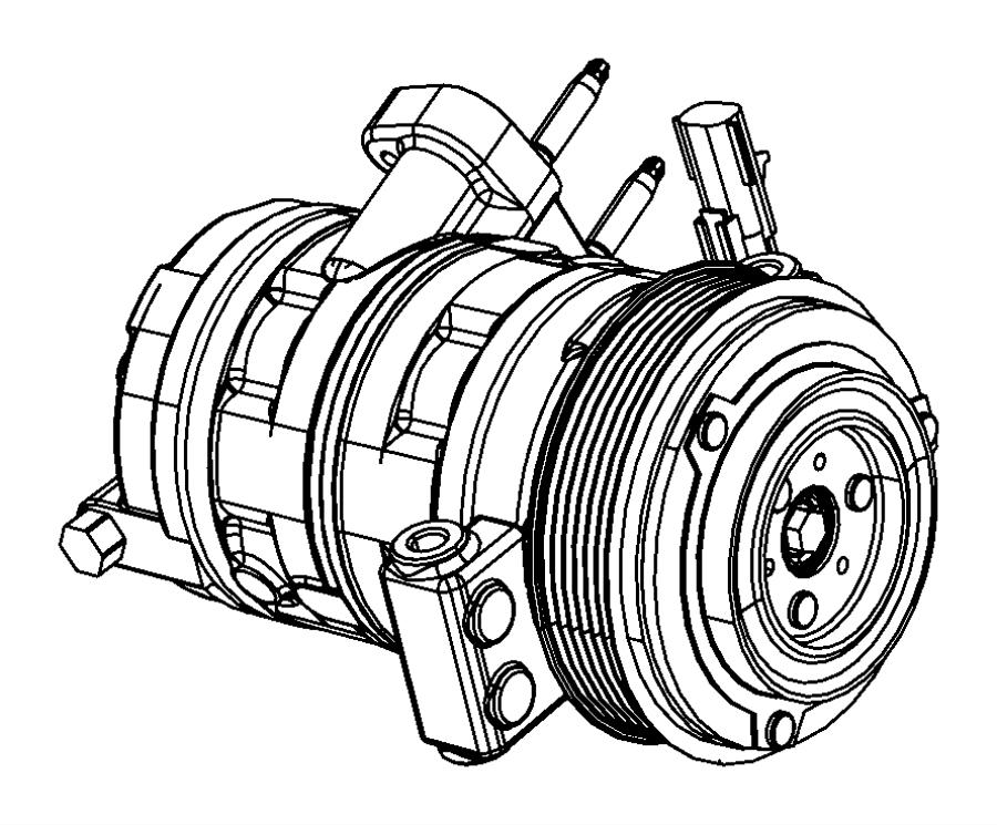 2011 Dodge NITRO Compressor. Air conditioning