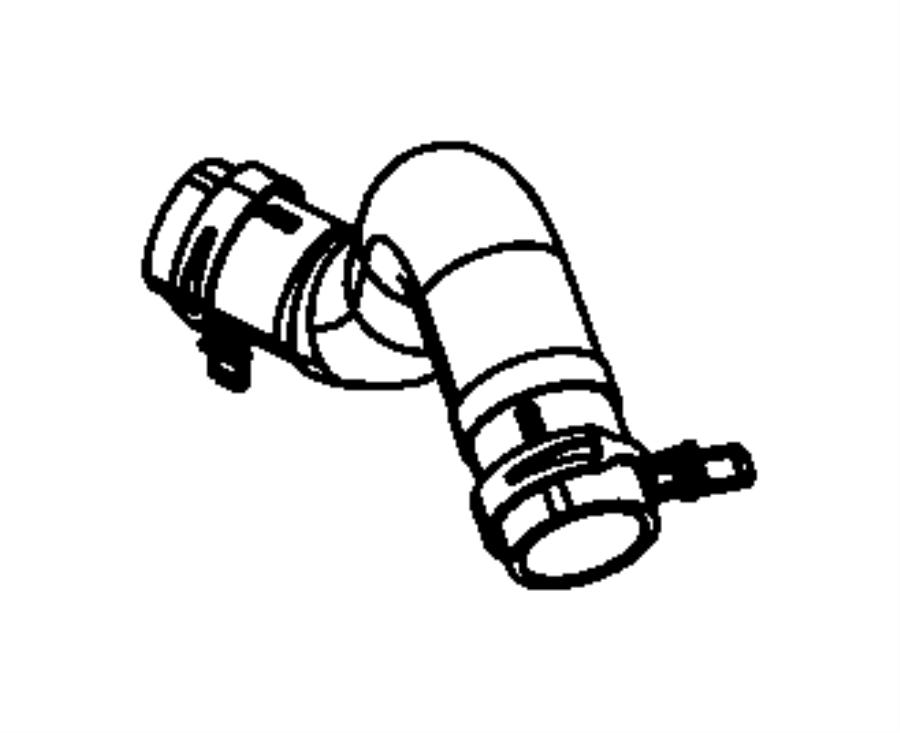 2010 Dodge NITRO Hose. Radiator outlet. Engine, related