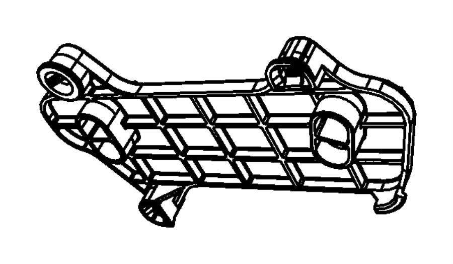 2009 Jeep Liberty Bracket. Wiring. I/p to body inline