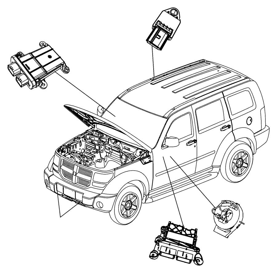 Jeep Liberty Module. Occupant classification. Trim: [cloth