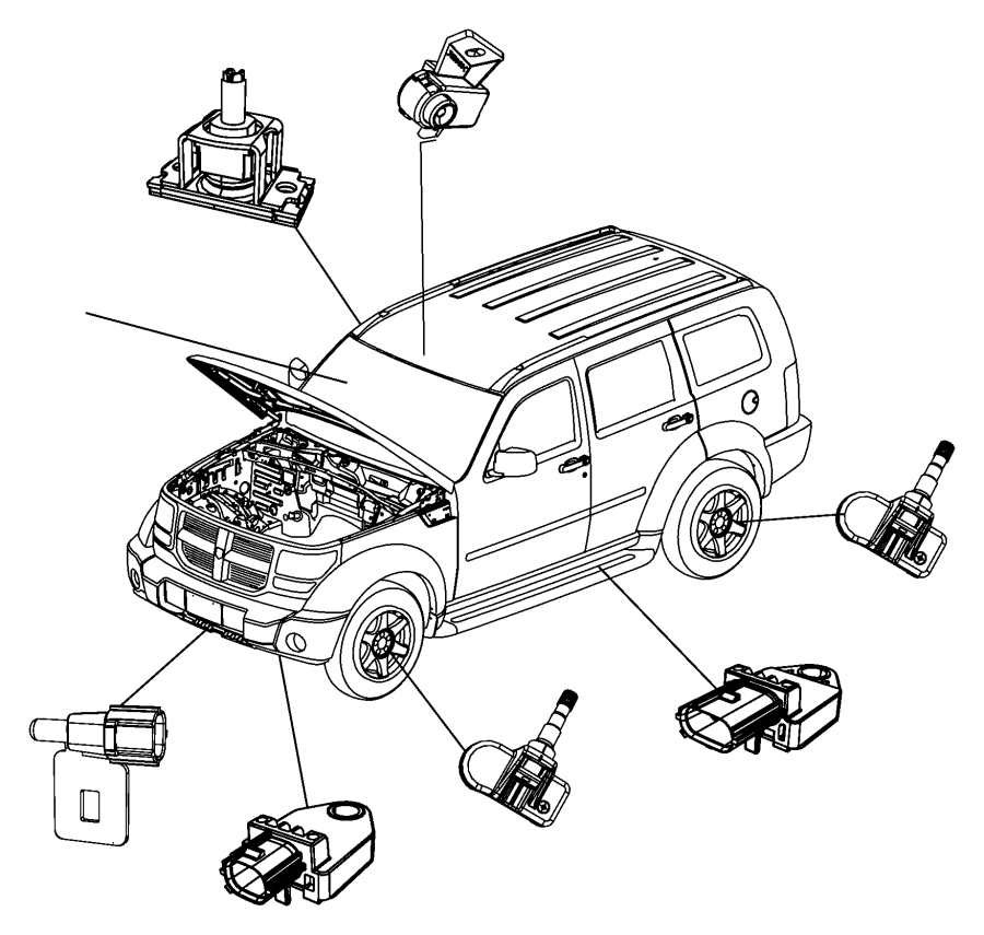 2011 Dodge NITRO Sensor. Infrared. Trim: [all trim codes