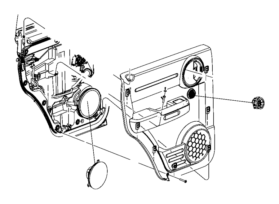 Dodge NITRO Speaker. 6.5. Door, left front door, left rear