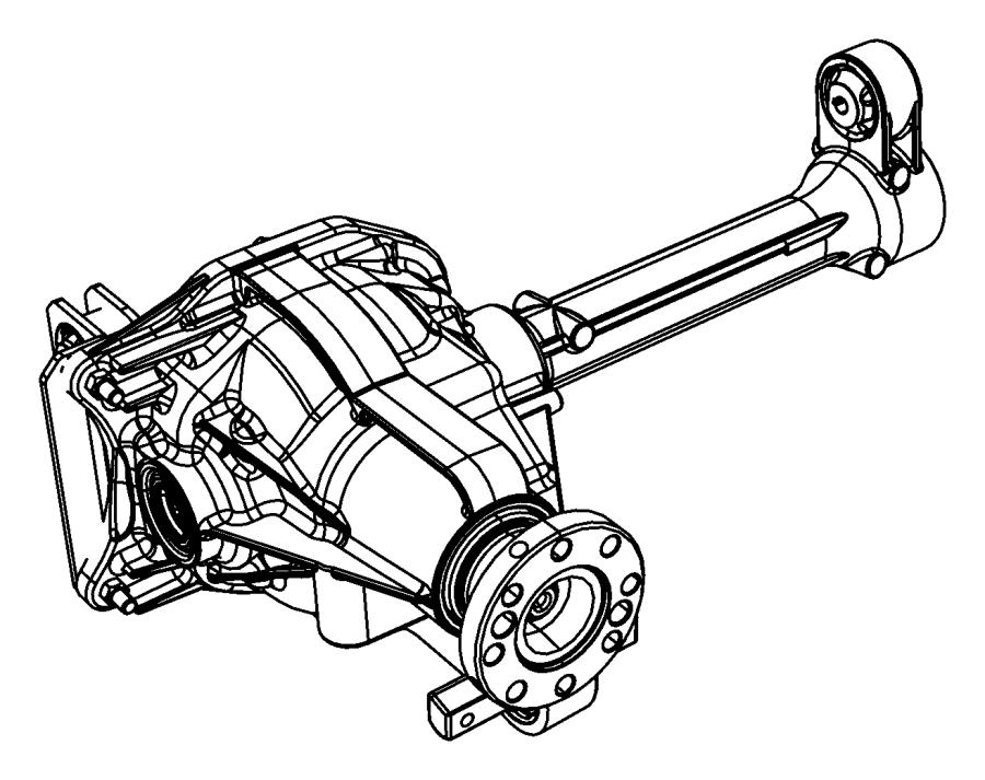 2008 Dodge NITRO Axle. Service front. [egypt ckd], [3.73
