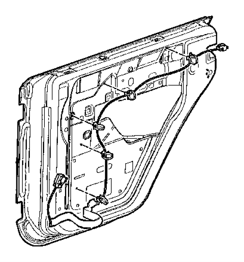 2011 Jeep Wrangler Wiring. Rear door. Left. Windows