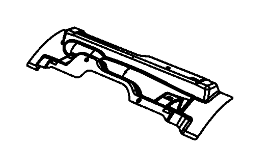 2011 Jeep Wrangler Crossmember. Rear seat. Floor, body