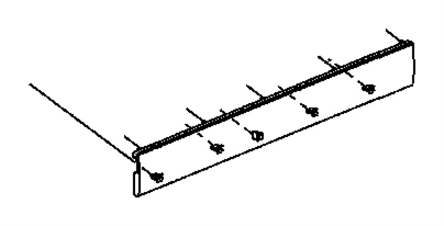 2011 Jeep Wrangler Panel. Swing gate trim. Trim: [all trim