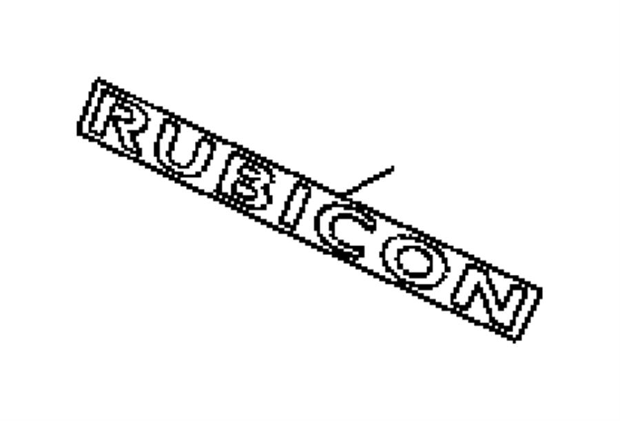 2016 Jeep Wrangler Decal. Rubicon. Color: [no description