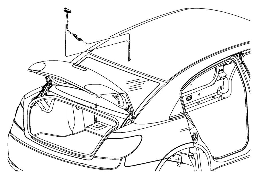 Chrysler Sebring Antenna. Used for: base cable and bracket