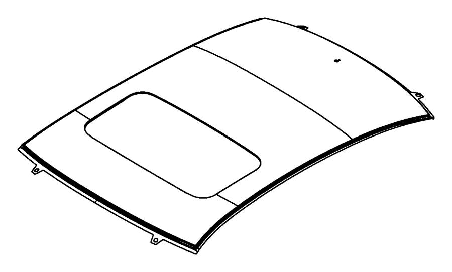 Chrysler Sebring Panel. Roof. With sunroof opening. [power