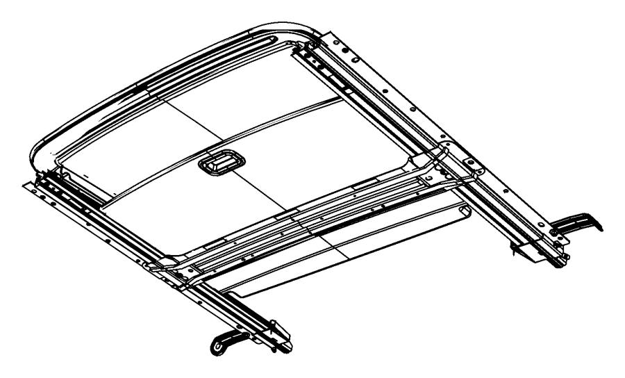 2013 Dodge Avenger Sunshade. Sunroof. [x9], [xr]. Trim