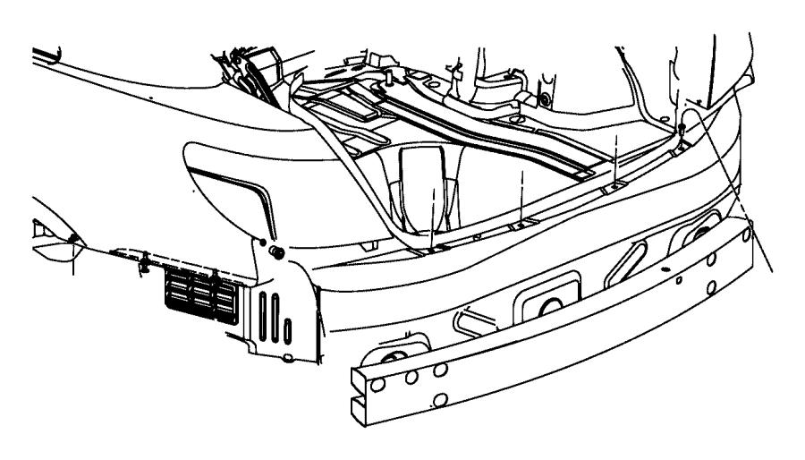2010 Chrysler Sebring Reinforcement. Rear bumper