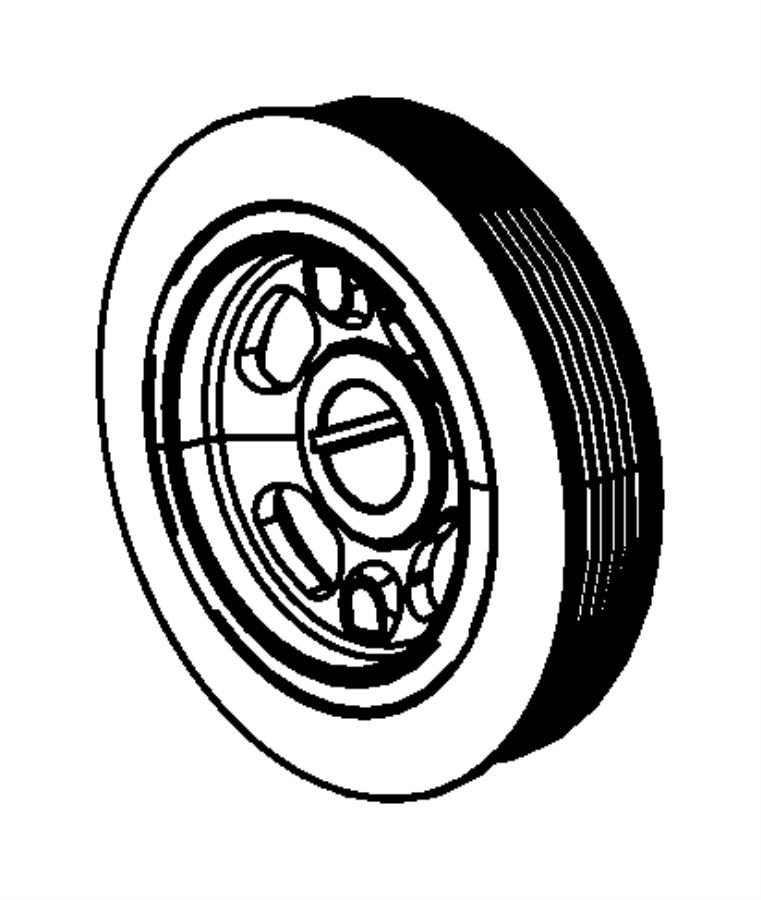2014 Chrysler 200 Damper. Crankshaft. Flywheel, bearings