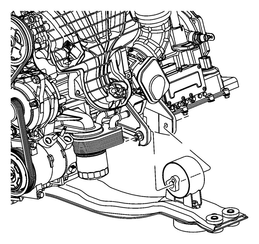 2008 Dodge Avenger Bracket. Engine mount. Front, rear. [6