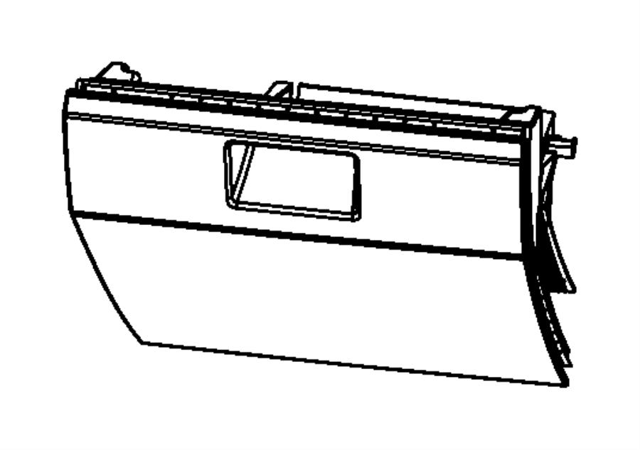 Dodge Caliber Glove box. Instrument panel. Trim: [all trim