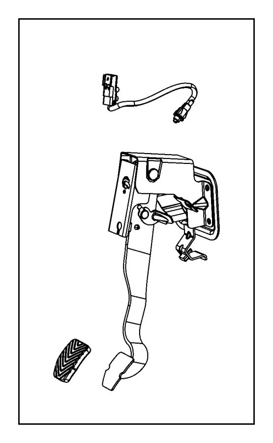 2007 Jeep Patriot Pedal. Clutch. [5-speed manual t355