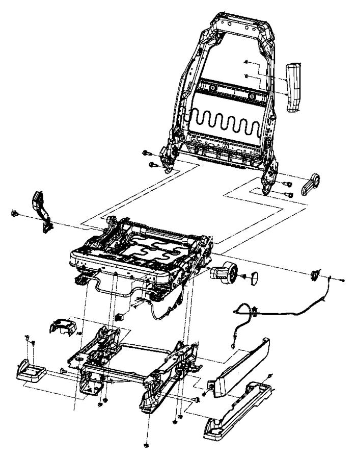 2011 Jeep Wrangler Handle. Front seat lift. Left. Trim