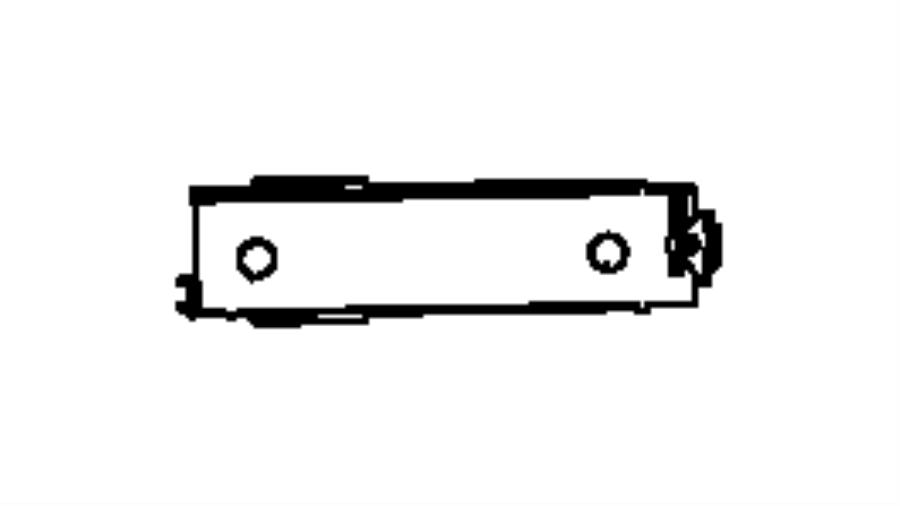 2012 Jeep Grand Cherokee Dampener. Glove box door. Trim