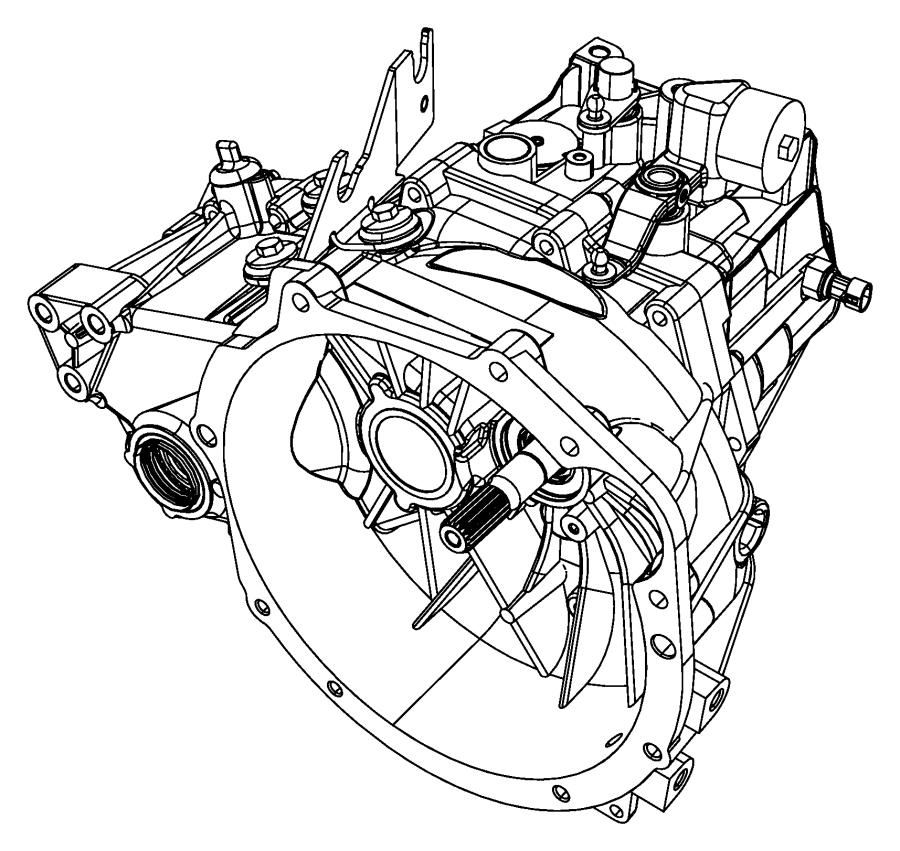 2011 Jeep Patriot Transaxle, transmission. 5 speed. Module