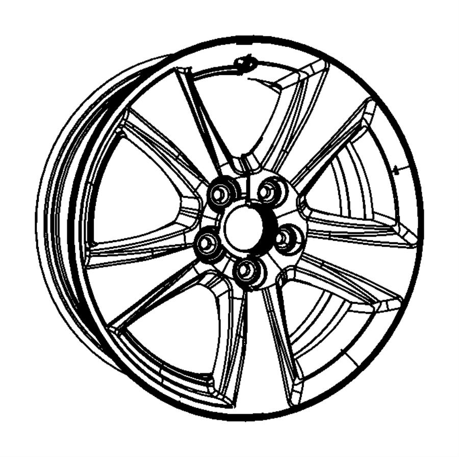 2012 Jeep Patriot Wheel. Aluminum. [18x7.0 aluminum chrome