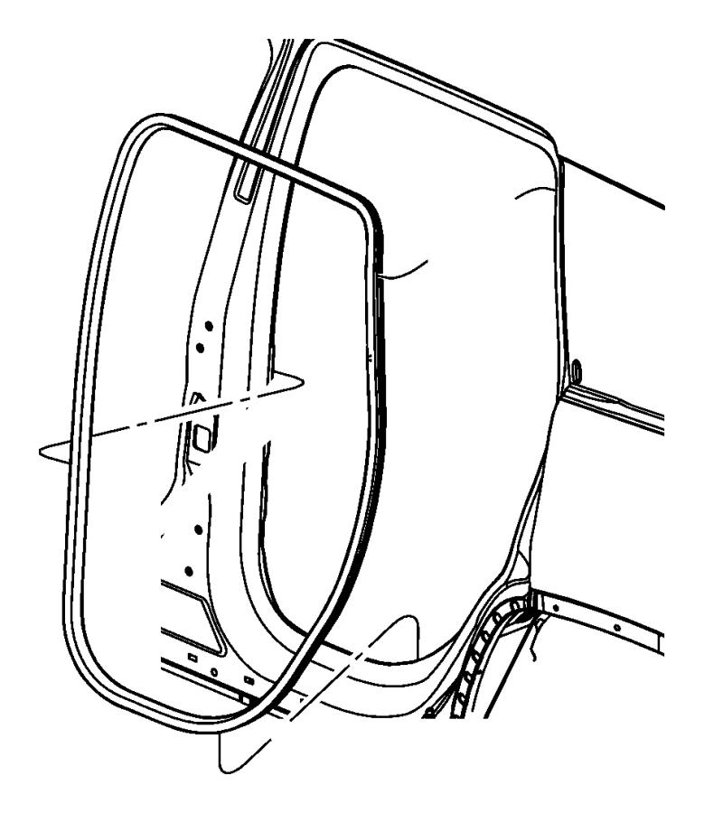 2013 Dodge Durango Weatherstrip. Rear door sill secondary