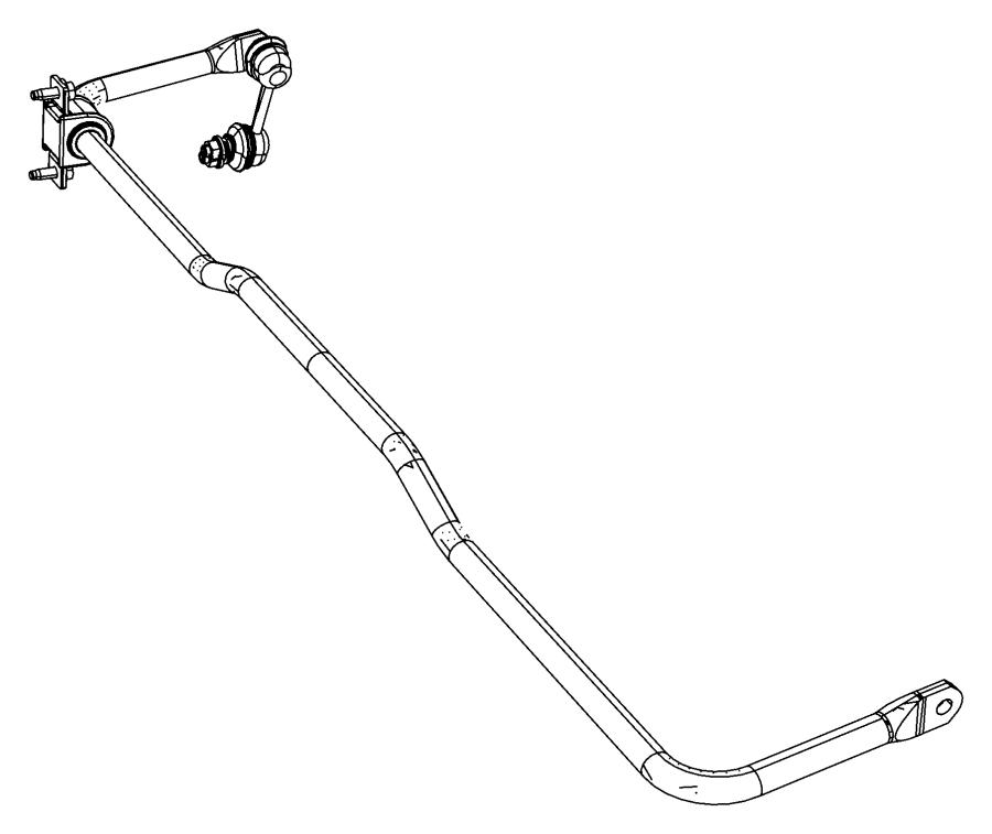2012 Dodge Journey Stabilizer bar. Rear suspension. Euro