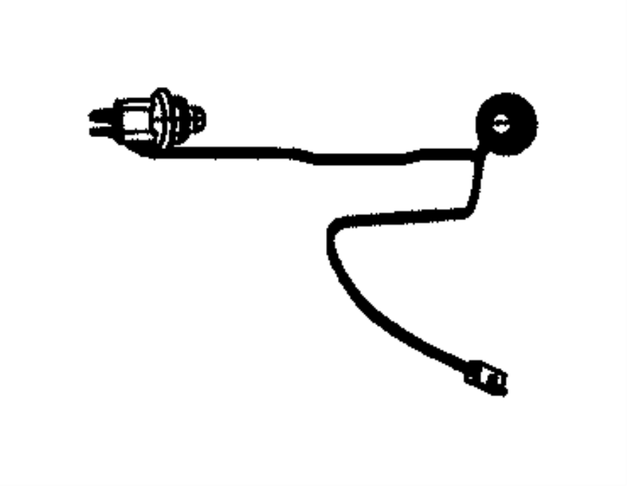 2012 Dodge Journey Wiring. License lamp. [remote proximity