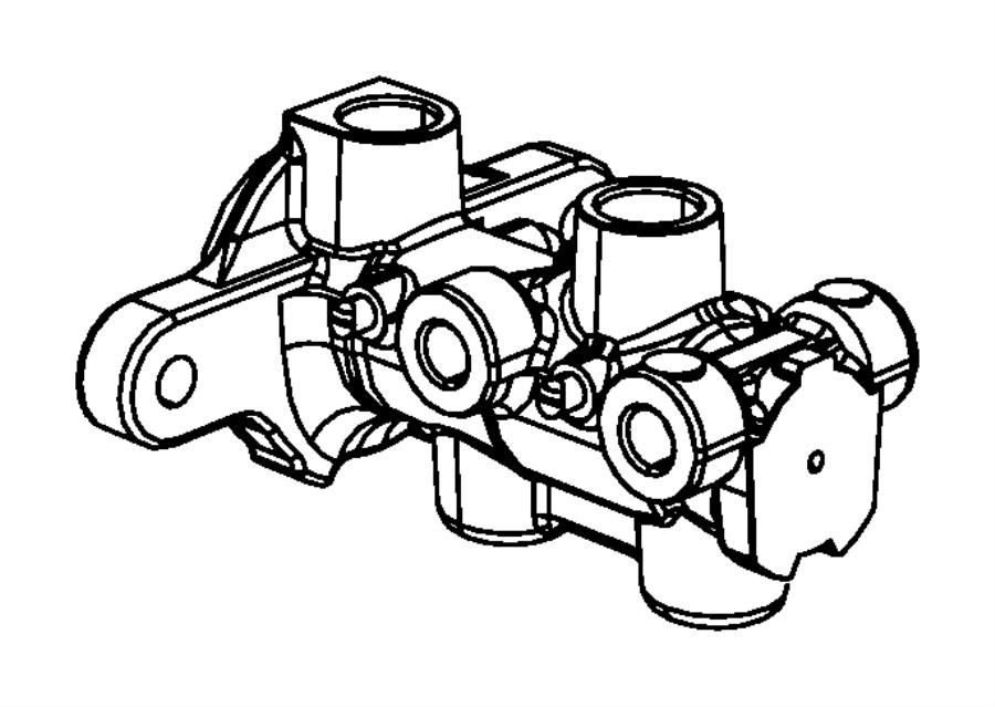 2012 Dodge Avenger Master cylinder. Brake. Lock, disc