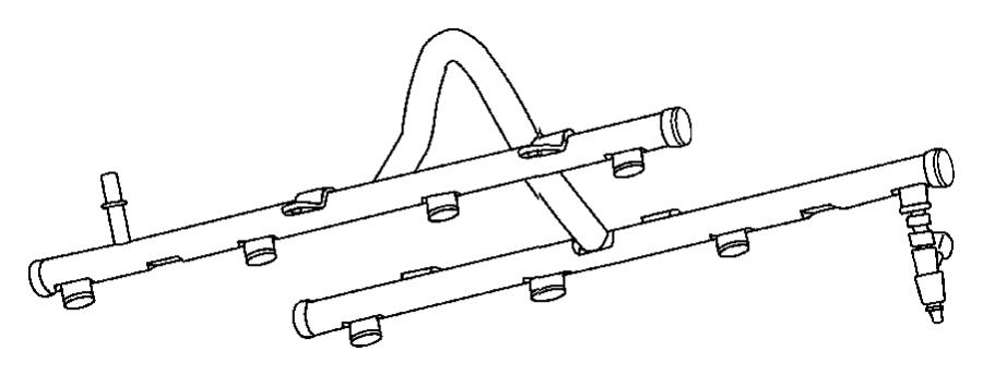 Ram 2500 Rail. Fuel. [5.7l v8 hemi mds vvt engine]. Ezh