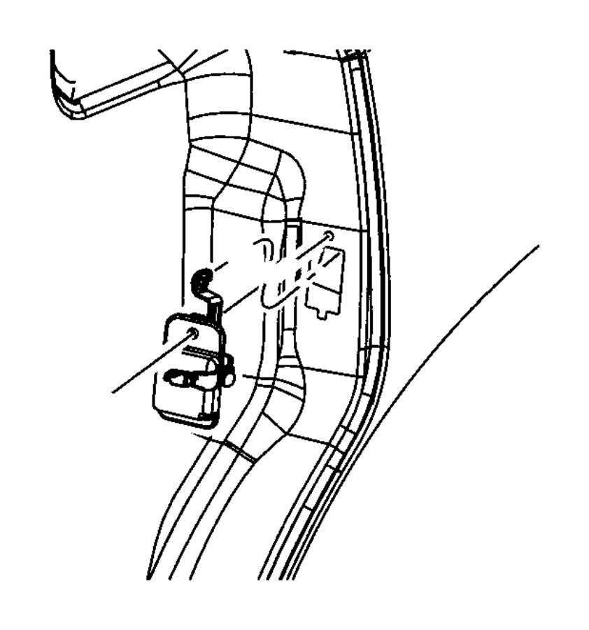 Dodge Grand Caravan Stop. Fuel filler door to sliding door