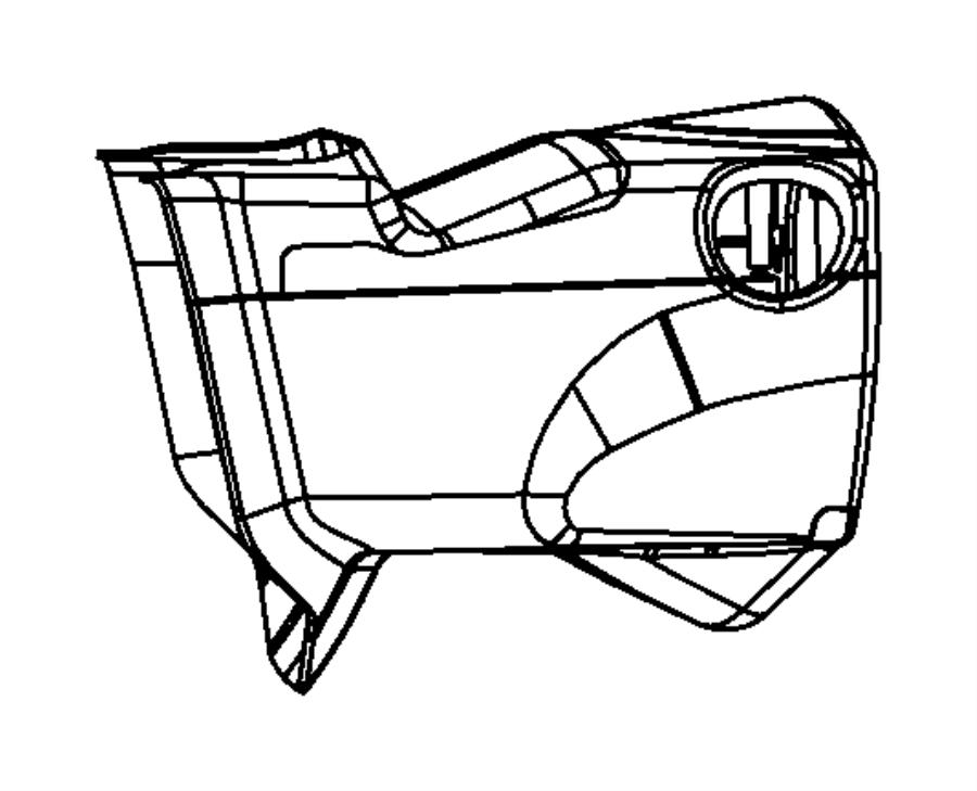 2014 Dodge Grand Caravan Shroud. Steering column. Lower
