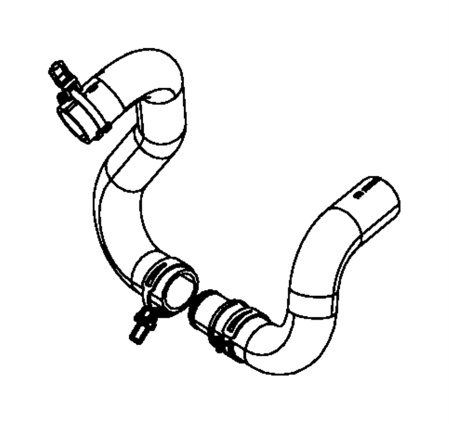 Chrysler Town & Country Used for: HOSE AND CLAMP. Radiator