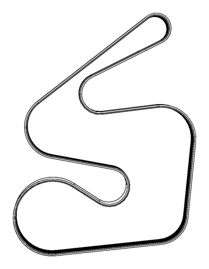 2011 Chrysler Town & Country Belt. Serpentine. Belts