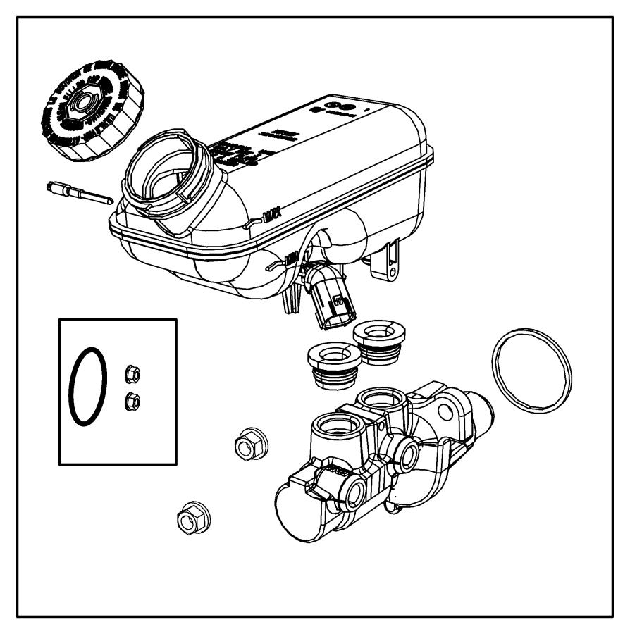 2014 Chrysler Town & Country Master cylinder. Brake. [anti