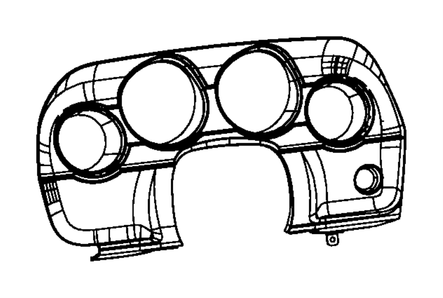 2013 Dodge Challenger Bezel. Instrument cluster. Trim