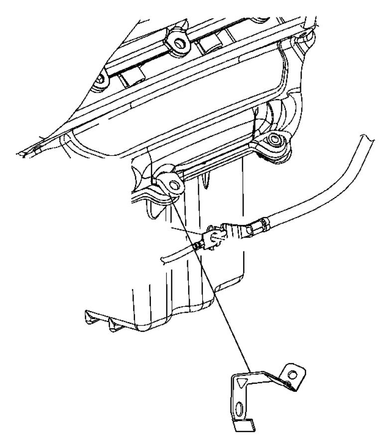 2014 Dodge Challenger Bracket. Wiring. Rwd, starter wiring
