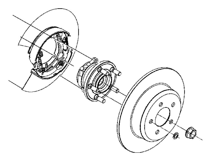 2013 Dodge Challenger Rotor. Brake. Rear. Disc, wheel