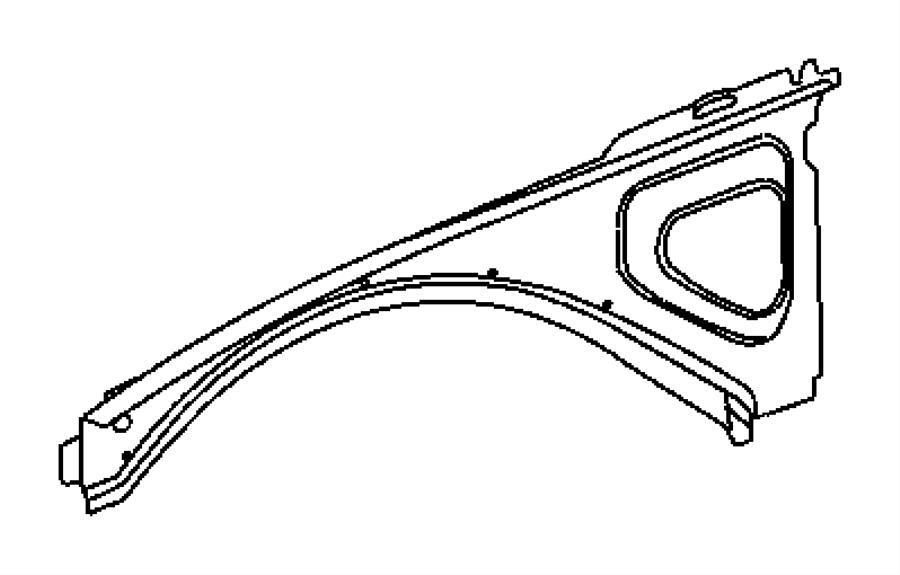 2014 Dodge Challenger Beam. Inner load path. Left