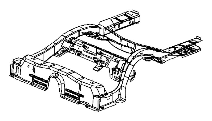 2010 Dodge Challenger Rail. Rear. Frame, floor, complete