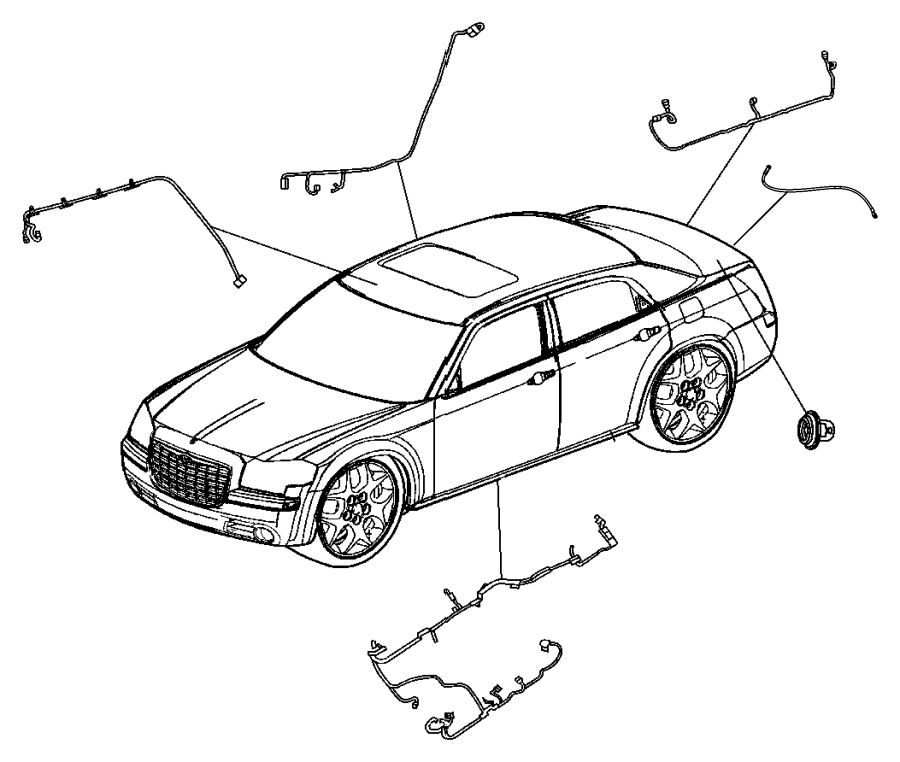 2011 Chrysler 300 Wiring. Rear fascia. Grilledark