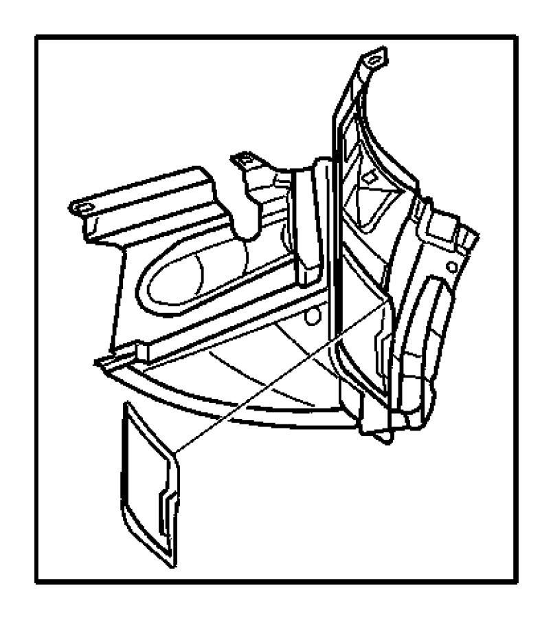 Chrysler PT Cruiser Shield. Splash. Right. Access door for