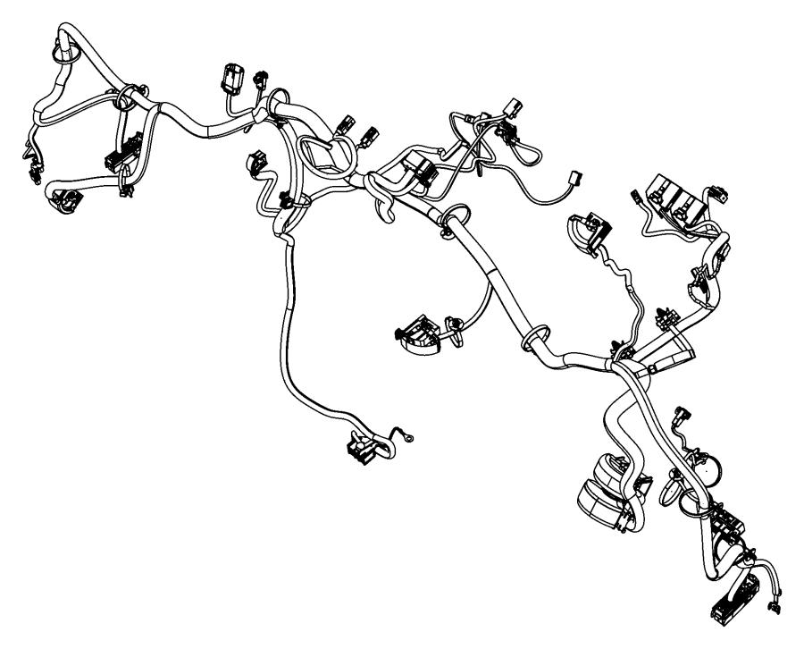 2016 Ram PROMASTER CITY WAGON Clip. Wiring. [power sunroof