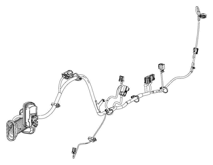 Fiat 500 Wiring. Front door. Left. Export. [6 speakers